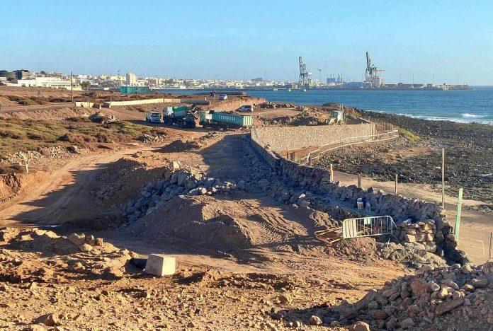 Puerto del Rosario: Bau der neuen Strandpromenade geht voran - Bildquelle: Gemeinde Puerto del Rosario