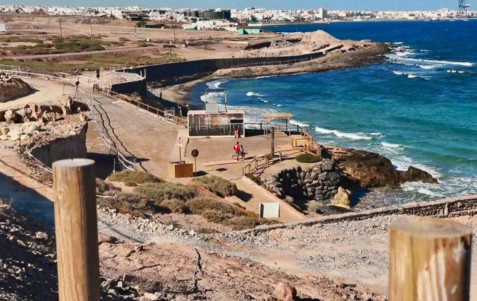 Puerto del Rosario: Baufortschritt der Strandpromenade am Playa Blanca
